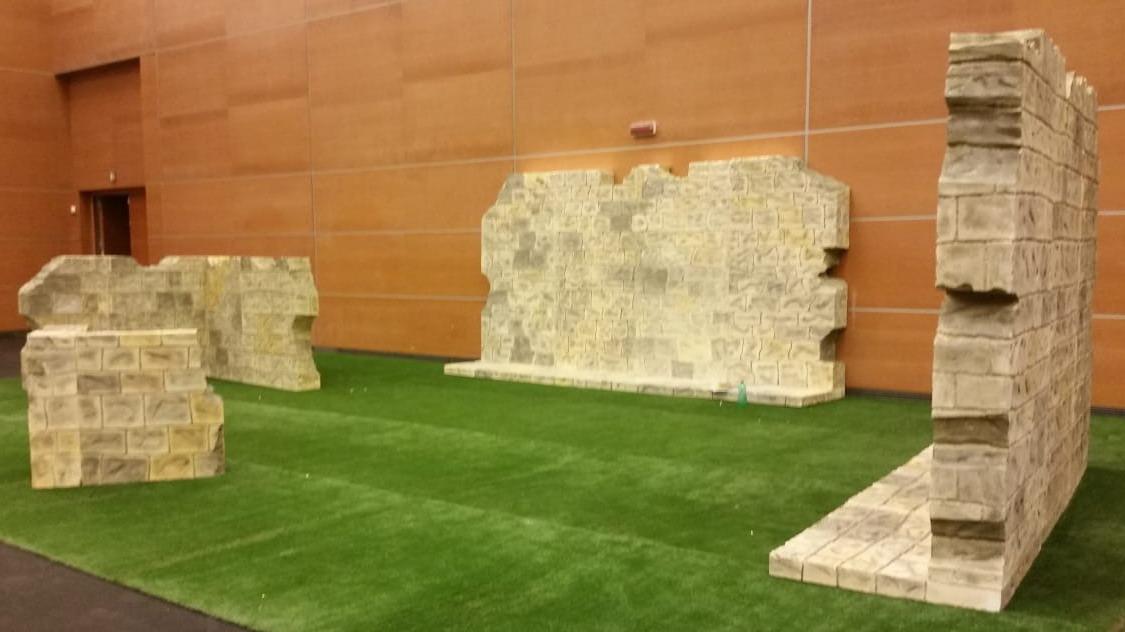 L'utilizzo del Polymass per emulare le mura medievali di Arezzo!