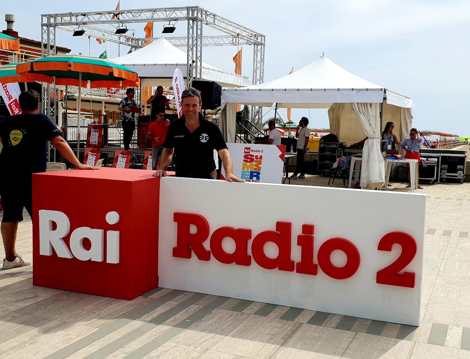 Be Different con RAI Radio 2 per le dirette sulla spiaggia!