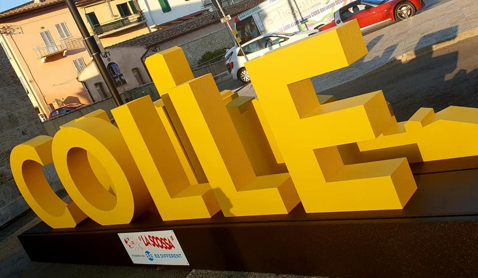 La Notte Gialla 2019 a Colle di Val d'Elsa, Be Different realizza un'installazione con il nome della città