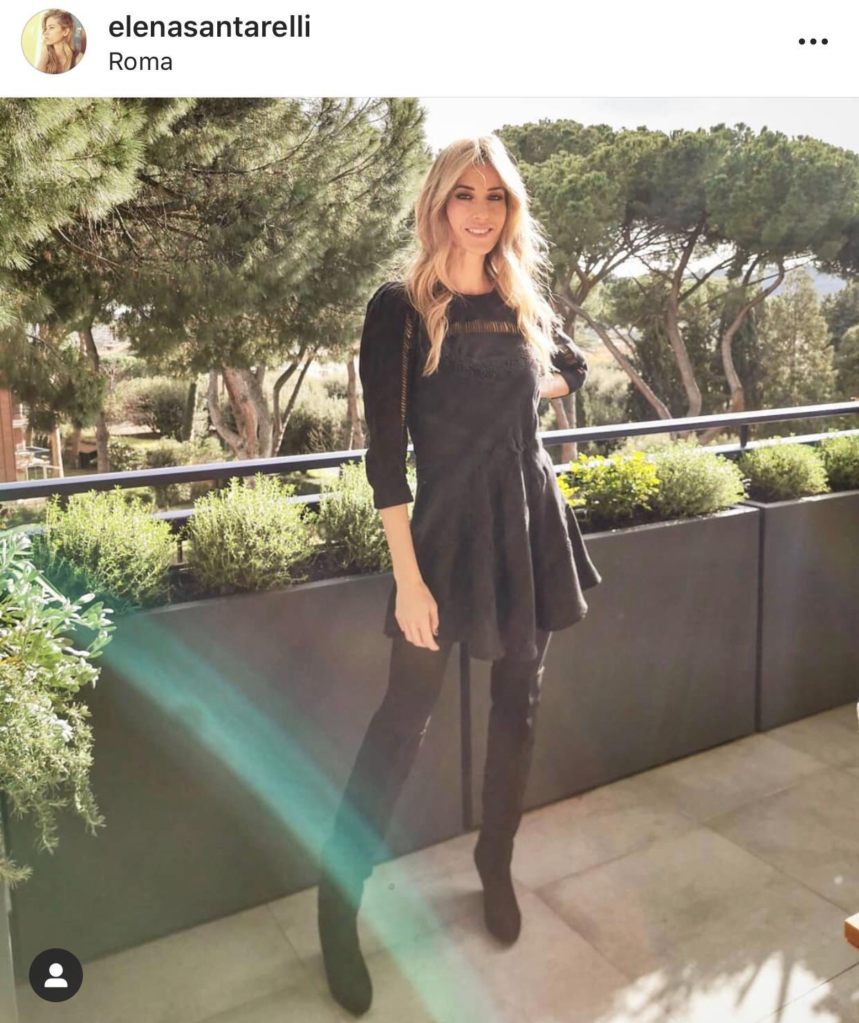 Il terrazzo di Elena Santarelli si caratterizza con le fioriere Be Different in Polymass!